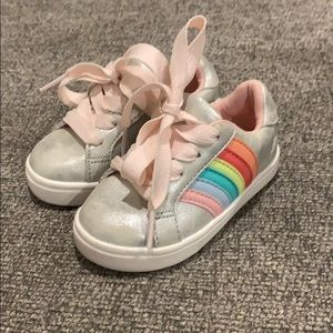 Rainbow sneakers worn once in perfect condition